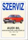 Audi 80, audi 80 quattro, audi coupé gt. javítási kézikönyv 1986-tól gyártott, 1.6-1.8-1.9 literes benzines típusokhoz