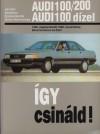 Audi 100/200, audi dízel. javítási kézikönyv 1982-90-ig gyártott, 1.9-2.02.1-2.2-2.3 literes benzines és 2.-2.4-2.5 dízel típusokhoz